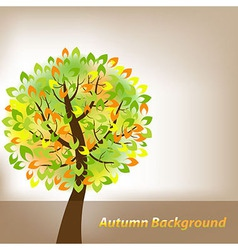 Autumn background with tree vector