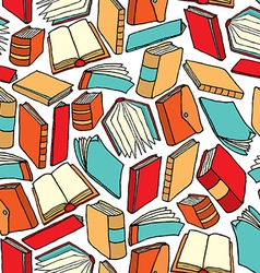 Cartoon texture of different books vector