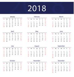 2018 calendar popular blue premium for business vector