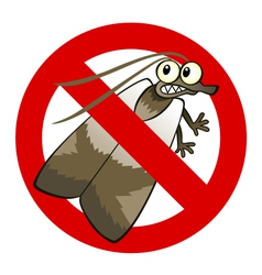 Anti moth sign vector