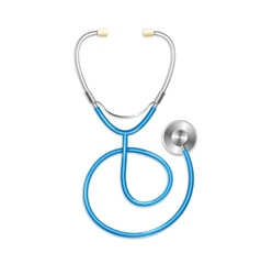 Blue stethoscope vector
