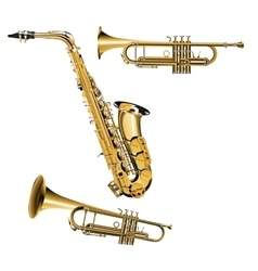 Trumpet and saxophone vector