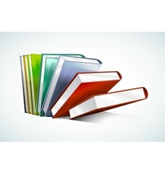 Book 3d isolated on white vector