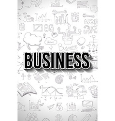 Business concept with doodle design style finding vector