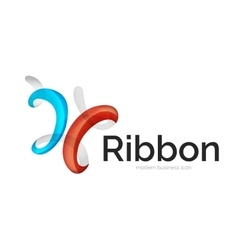 Modern ribbon logo vector