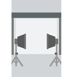 Background of empty photo studio vector