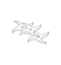 Flying knife isometric 3d icon vector