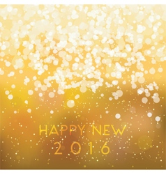 abstract blurred gold card happy new 2016 vector image vector image