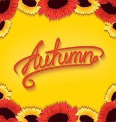 Autumn sunflowers vector