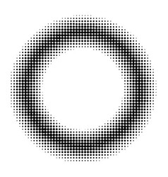 circle donut comic book manga halftone vector image vector image