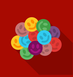 Ecstasy icon in flat style isolated on white vector