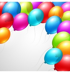 Festive Balloons real transparency vector image