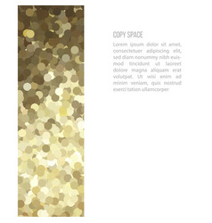 Golden glitter border card vector