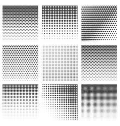 halftone dots pattern set vector image vector image