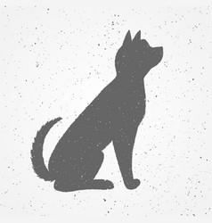Hand drawn black dog vector