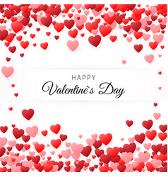 happy valentines day greeting card greeting card vector image