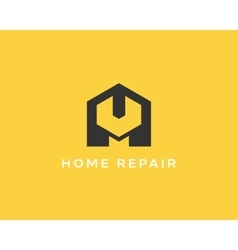 House repair service tool shop sign logotype vector