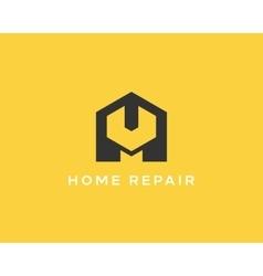 House repair service tool shop sign logotype vector