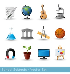 Icon set subjects vs vector