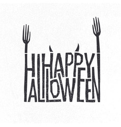 Logotype design halloween holiday sign vector