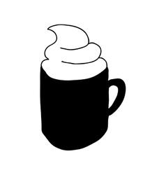 mug with beverage icon image vector image