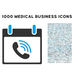 Phone call calendar day icon with 1000 medical vector