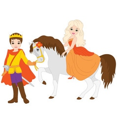 Princess with Prince vector image vector image