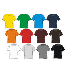 t shirt template vector image
