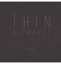 Thin alphabet uppercase vector