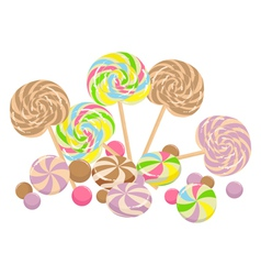 vintage style lollies vector image