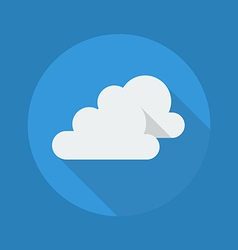 Weather Flat Icon Very Cloudy vector image vector image