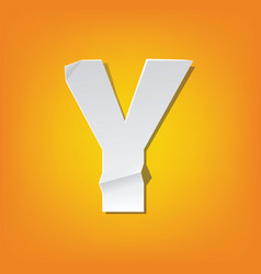 Y capital letter fold english alphabet new design vector