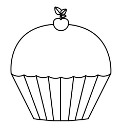 Muffin dessert design vector