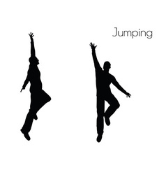 Man in jumping action pose vector