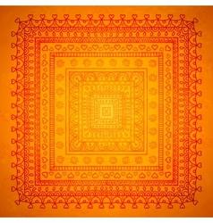 Square orient ornament background vector
