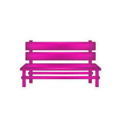 Rural bench in pink design vector