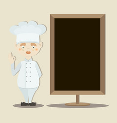 Cute funny chef cook in the cap vector