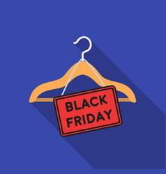 Black friday sale icon in flat style isolated on vector