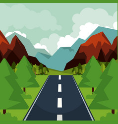 colorful background of natural landscape with vector image