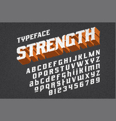 Strength typeface font vector