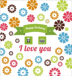 Birthday elements set vector