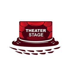 Modern theater vector