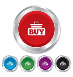 Buy sign icon online buying cart button vector