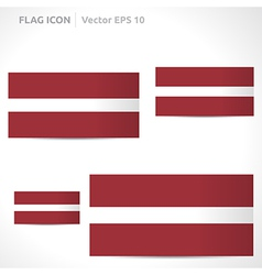 Latvia flag template vector