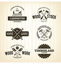 Carpentry emblems 1 vector