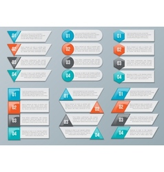 Number Options for Infographics vector image