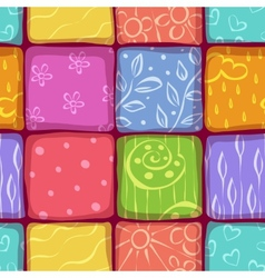 Mosaic seamless pattern background vector