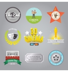 Cinema labels collection vector