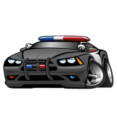 Police muscle car cartoon vector