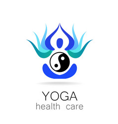 Yoga health care vector